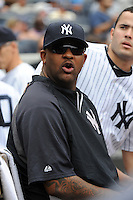New York Yankees pitcher C.C. Sabathia #52 during a game against the Baltimore Orioles at Yankee Stadium on September 5, 2011 in Bronx, NY.  Yankees defeated Orioles 11-10.  Tomasso DeRosa/Four Seam Images