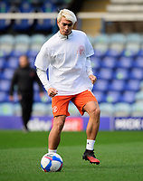 Blackpool's Kenny Dougall during the pre-match warm-up<br /> <br /> Photographer Chris Vaughan/CameraSport<br /> <br /> The EFL Sky Bet League One - Peterborough United v Blackpool - Saturday 21st November 2020 - London Road Stadium - Peterborough<br /> <br /> World Copyright © 2020 CameraSport. All rights reserved. 43 Linden Ave. Countesthorpe. Leicester. England. LE8 5PG - Tel: +44 (0) 116 277 4147 - admin@camerasport.com - www.camerasport.com