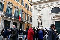 Press outside the Senate, where a trust vote is going on, due to the Government crisis.<br /> Rome(Italy), January 19th 2021<br /> Photo Samantha Zucchi/Insidefoto