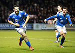 St Mirren v St Johnstone…26.12.18…   St Mirren Park    SPFL<br />Tony Watt celebrates his goal with Ross Callachan<br />Picture by Graeme Hart. <br />Copyright Perthshire Picture Agency<br />Tel: 01738 623350  Mobile: 07990 594431