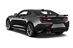 Car pictures of rear three quarter view of 2018 Chevrolet Camaro ZL1 2 Door Coupe Angular Rear