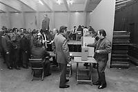 Vote des teamsters, 24 Novembre 1972<br /> PHOTO : Agence Quebec Presse -  Alain Renaud