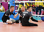 Bryce Foster, Darek Symonowics, and Doug Learoyd, Lima 2019 - Sitting Volleyball // Volleyball assis.<br />