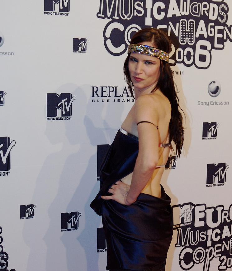 København, 20061102. MTV Europe Music Awards. Red Carpet.   Juliette Lewis.