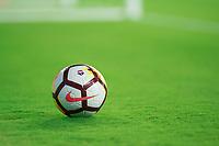 Orlando, FL - Saturday April 28, 2018:  NIKE Soccer Ball, Orlando Pride vs Seattle Reign FC at Orlando City Stadium.