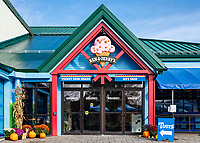 Ben and Jerry's Ice Cream factory and corporate headquarters, Waterbury, Vermont, USA.
