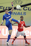 Ugra Yugorsk's Daniil Davydov (l) and SL Benfica's Re during UEFA Futsal Cup 2015/2016 Semifinal match. April 22,2016. (ALTERPHOTOS/Acero)