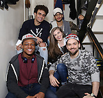 Hamilton cast backstage before Q & A for Student Matinee