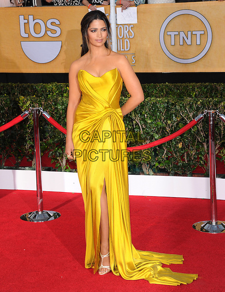 Camila Alves  at the 20th Annual Screen Actors Guild Awards held at The Shrine Auditorium in Los Angeles, California on January 18th 2014.                                                                              <br /> CAP/DVS<br /> ©Debbie VanStory/Capital Pictures