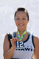 Beautiful Asian girl, Seahawks 12K Run 2016, The Landing, Renton, Washington, USA.