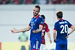 Suwon Defender Matthew Jurman gestures during the AFC Champions League 2017 Group G match between Guangzhou Evergrande FC (CHN) vs Suwon Samsung Bluewings (KOR) at the Tianhe Stadium on 09 May 2017 in Guangzhou, China. Photo by Yu Chun Christopher Wong / Power Sport Images