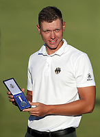 18th July 2021; Royal St Georges Golf Club, Sandwich, Kent, England; The Open Championship Golf, Day Four; winner of the amateur medal Matthias Schmid on the 18th green