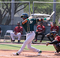 George Bryner Bell - Oakland Athletics 2021 extended spring training (Bill Mitchell)