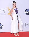 Emilia Clarke.. at The 64th Anual Primetime Emmy Awards held at Nokia Theatre L.A. Live in Los Angeles, California on September  23,2012                                                                   Copyright 2012 Hollywood Press Agency