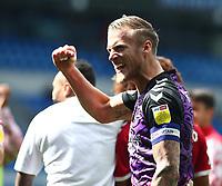 28th August 2021; Cardiff City Stadium, Cardiff, Wales;  EFL Championship football, Cardiff versus Bristol City; Daniel Bentley of Bristol City celebrates after the 1-2 win