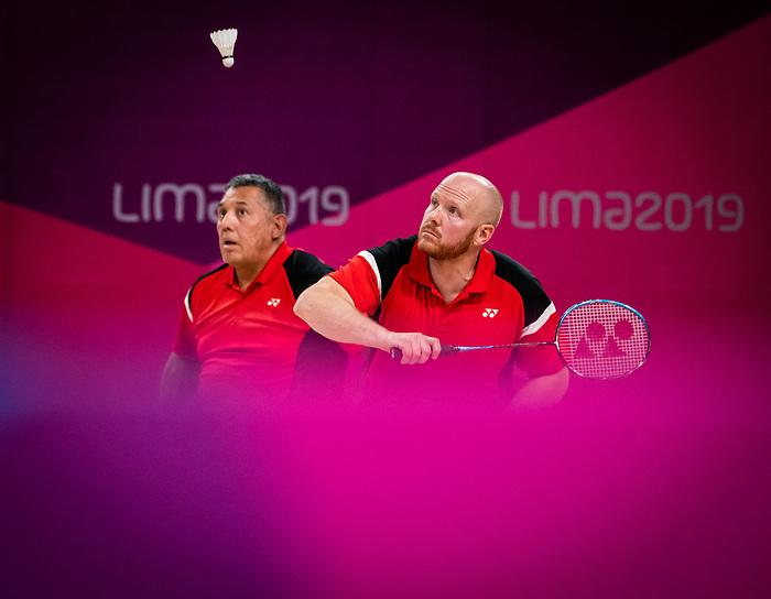 Bernard Lapointe and Richard Peter, Lima 2019 - Para Badminton // Parabadminton.<br /> Bernard Lapointe and Richard Peter compete in men's doubles badminton // Bernard Lapointe et Richard Peter en compétition en double de badminton masculin. 29/08/2019.