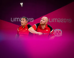 Bernard Lapointe and Richard Peter, Lima 2019 - Para Badminton // Parabadminton.<br />