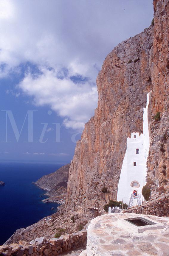 Greece Amorgos The monastery of Hozoviotissa