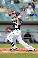 New Orleans Zephyrs shortstop Matt Downs #12 during a game against the Round Rock Express on April 15, 2013 at Zephyr Field in New Orleans, Louisiana.  New Orleans defeated Round Rock 3-2.  (Mike Janes/Four Seam Images)