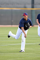 Carlos Carrasco. Cleveland Indians spring training workouts at their complex in Goodyear, AZ - 03/06/2010.Photo by:  Bill Mitchell/Four Seam Images.