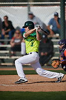 David Balague during the Under Armour All-America Pre-Season Tournament, powered by Baseball Factory, on January 19, 2019 at Fitch Park in Mesa, Arizona.  David Balague is a shortstop from San Bruno, California who attends Capuchino High School.  (Mike Janes/Four Seam Images)