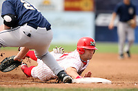 August 20th, 2007:  Tyler Henley of the Batavia Muckdogs, Short-Season Class-A affiliate of the St. Louis Cardinals at Dwyer Stadium in Batavia, NY.  Photo by:  Mike Janes/Four Seam Images