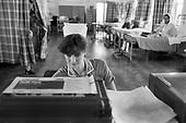 Nurse on a ward, City General Hospital, Stoke-on-Trent