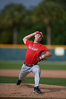 Bryce Pearson (65), from Evergreen, Colorado, while playing for the Cardinals during the Baseball Factory Pirate City Christmas Camp & Tournament on December 29, 2017 at Pirate City in Bradenton, Florida.  (Mike Janes/Four Seam Images)