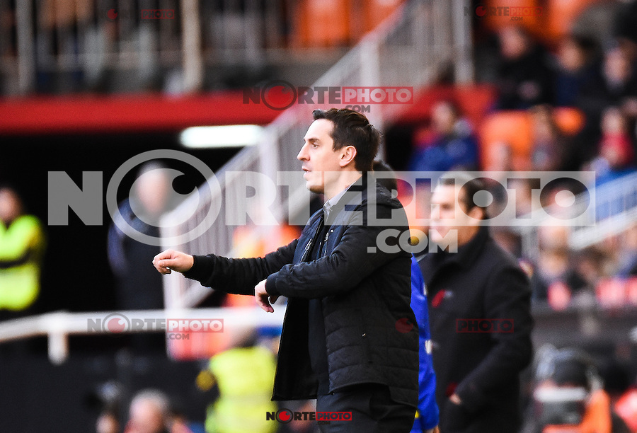 Valencia's coach Gary Neville  during Spanish King's Cup match. January 6, 2016. (ALTERPHOTOS/Javier Comos) /NortePhoto