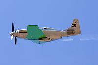 P-51 Mustang Precious Metal in flight.