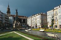 Plaza de la Virgen Blanca, Vitoria-Gasteiz, Baskenland (Euskadi), Spanien