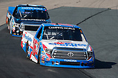NASCAR Camping World Truck Series<br /> UNOH 175 <br /> New Hampshire Motor Speedway<br /> Loudon, NH USA<br /> Saturday 23 September 2017<br /> Ryan Truex, Price Chopper Toyota Tundra Christopher Bell, SiriusXM Toyota Tundra<br /> World Copyright: Matthew T. Thacker<br /> LAT Images