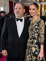 HOLLYWOOD, CA - FEBRUARY 22:  Harvey Weinstein and Georgina Chapman attendst the 87th Annual Academy Awards at Hollywood & Highland Center on February 22, 2015 in Hollywood, California.<br /> <br /> <br /> People:  Harvey Weinstein and Georgina Chapman<br /> <br /> Transmission Ref:  MNC<br /> <br /> Must call if interested<br /> Michael Storms<br /> Storms Media Group Inc.<br /> 305-632-3400 - Cell<br /> 305-513-5783 - Fax<br /> MikeStorm@aol.com