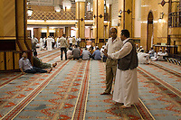 Tripoli, Libya - Mosque Interior after Friday Prayers, Al-Jaza'ir Square Mosque, formerly an Italian Catholic cathedral.