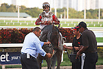 Orb and jockey John Velazquez after winning the Fountain of Youth (G2) at Gulfstream Park,  Hallandale Beach Florida. 02-23-2013