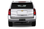 Straight rear view of 2017 Chevrolet Tahoe 2WD LT 5 Door SUV Stock Photo