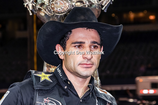 Joao Ricardo Vieira wins the Choctaw Casino Resort Iron Cowboy VI bull riding event, at the AT & T stadium in Arlington, Texas, earning himself $180,000.