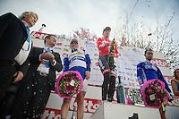 champagne for race winner Kenny Dehaes (BEL)<br /> <br /> Nokere Koerse 2014