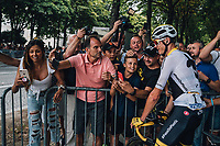 Picture by Russell Ellis/russellis.co.uk/SWpix.com - image archived on 25/04/2019 Cycling Tour de France 2018 - Team Sky at the Tour de France - STAGE 21: HOUILLES - PARIS Champs-Elysées 29/07/2018<br /> - Chris Froome