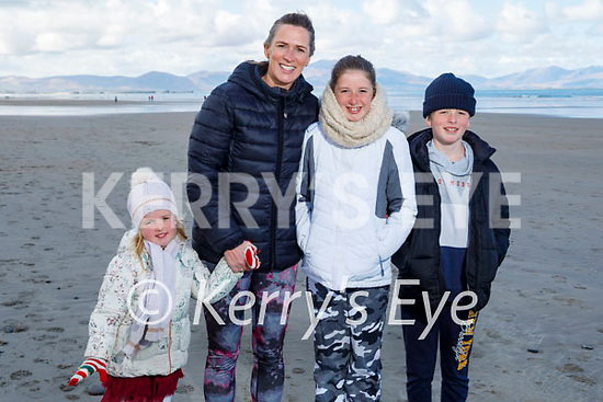 The O'Shea family enjoying a stroll in Banna beach on Sunday, l to r: Romy, Aoife, Arie and Eli O'Shea