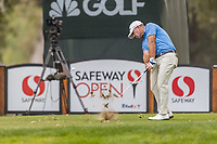 11th September 2020, Napa, California, USA;  Ryan Armour of the United States tees off during the second round of the Safeway Open PGA tournament on September 11, 2020 at Silverado Country Club in Napa, CA.