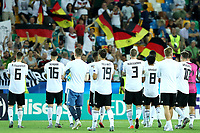 Germany players celebrate with fans at the end of the match <br /> Udine 17-06-2019 Stadio Friuli <br /> Football UEFA Under 21 Championship Italy 2019<br /> Group Stage - Final Tournament Group A<br /> Germany - Denmark  <br /> Photo Cesare Purini / Insidefoto