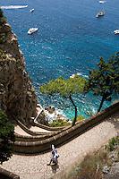 Italien, Capri, Via Krupp von Giardini di Augusto nach Marina Piccola