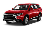 2020 Mitsubishi Outlander SEL 5 Door SUV Angular Front automotive stock photos of front three quarter view