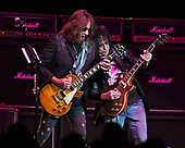 HOLLYWOOD FL - JULY 22: Ace Frehley and Richie Scarlet perform at Hard Rock Live held at the Seminole Hard Rock Hotel & Casino on July 22, 2017 in Hollywood, Florida. : Credit Larry Marano © 2017