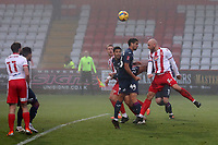 Scott Cuthbert of Stevenage goes close during Stevenage vs Swansea City, Emirates FA Cup Football at the Lamex Stadium on 9th January 2021