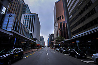 Featherston Street at 1pm on Thursday. Wellington CBD during quarantine lockdown for COVID19 pandemic in Wellington, New Zealand on Thursday, 2 April 2020. Photo: Dave Lintott / lintottphoto.co.nz