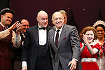 Clarke Thorell, Anthony Warlow, Charles Strouse, Merwin Foard, Lilla Crawford & the cast from Broadway's iconic musical ANNIE celebrate creator Charles Strouse's 85th Birthday at The Palace Theatre in New York City on June 06, 2013.