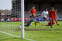 3rd September 2021; Newport, Wales:  Rico Lewis of England scores during the U18 International Friendly match against England at Newport Stadium in Newport, Wales.
