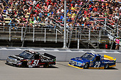 NASCAR Camping World Truck Series<br /> LTI Printing 200<br /> Michigan International Speedway, Brooklyn, MI USA<br /> Saturday 12 August 2017<br /> Kyle Busch, Textron Off Road Toyota Tundra and Chase Briscoe, Cooper Standard Ford F150<br /> World Copyright: Nigel Kinrade<br /> LAT Images